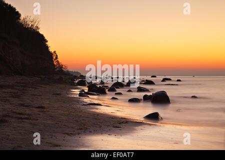 Sunset on Poel. - Stock Photo