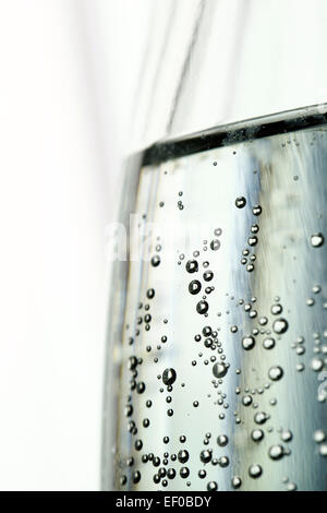 Mineral fizzy water close-up - Stock Photo