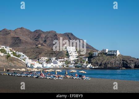 Las Playitas Tuineje Fuerteventura Canary Islands Spain - Stock Photo