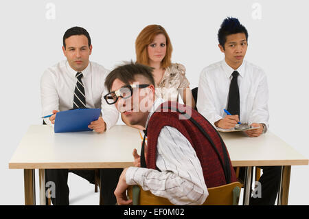 Man at a business interview - Stock Photo