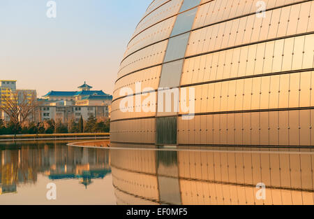 BEIJING, CHINA - APR 6: National Centre for the Performing Arts NCPA on April 6, 2013 in Beijing, China. Cost 2.8B - Stock Photo