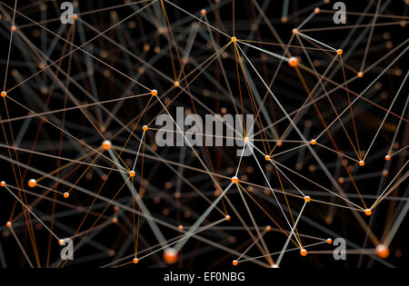 Abstract background of pipes and connections. Stock Photo