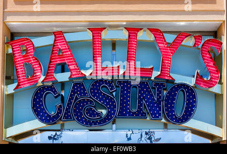 Bally's Casino on the boardwalk in Atlantic City, New Jersey, USA - Stock Photo