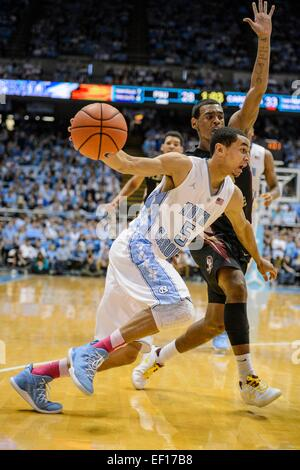 Chapel Hill, NC, USA. 24th Jan, 2015. UNC G Marcus Paige (5) during the NCAA Basketball game between the Florida - Stock Photo