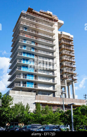 Florida, FL, South, Miami Beach, new under construction site, high rise, condominium residential apartment apartments - Stock Photo