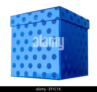 Blue Gift Box Present - Stock Photo