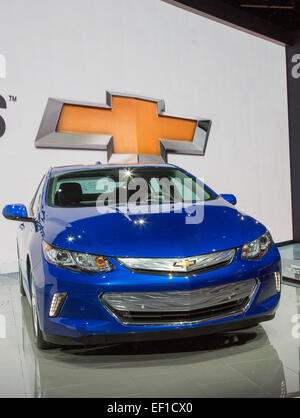 Detroit, Michigan - The 2016 Chevrolt Volt on display at the North American International Auto Show. - Stock Photo