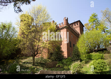 The castle of the medieval town, Turin, Italy - Stock Photo