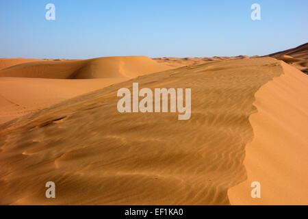 Sand dunes of Erg Chebbi desert in Merzouga, Morocco - Stock Photo