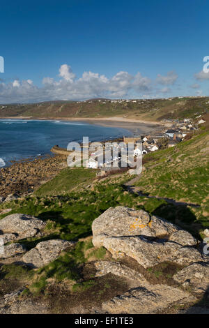 Sennen cove; From Lookout; Cornwall; UK