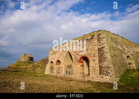 lime castle lime kilns and castle lindisfarne holy island northumberland