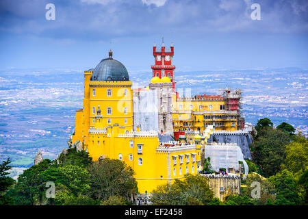 Sintra, Portugal at Pena National Palace - Stock Photo