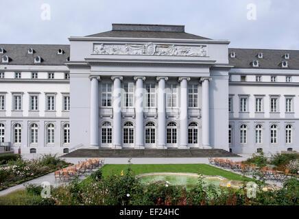 18th century Kurfürstliches Schloss or Electoral Palace and gardens in Koblenz, Rhineland-Palatinate, Germany, Europe - Stock Photo
