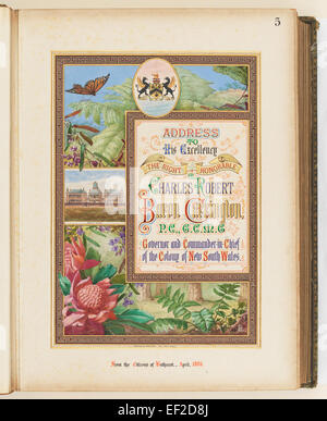 Addresses Presented to Lord Carrington Governor of New South Wales 1886 No. 2, Address From the Citizens of Bathurst - Stock Photo