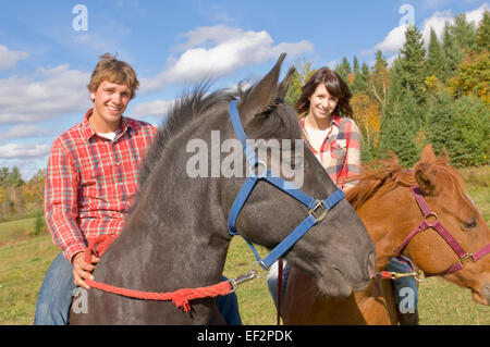 Young Woman Enjoy Riding Bareback On A Galloping Bavarian