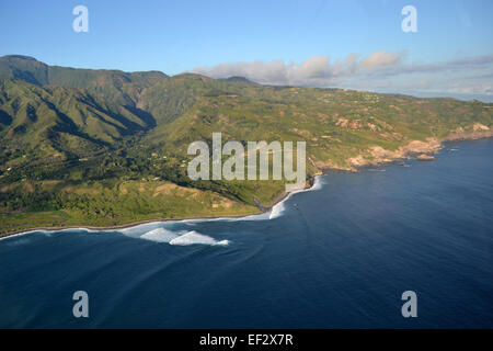 Aerial view of the North shore of  Maui, Hawaii - Stock Photo