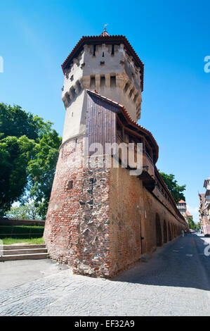 The old town walls, Sibiu, Romania - Stock Photo
