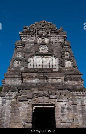 Bima temple in Dieng Plateau, Central Java. - Stock Photo