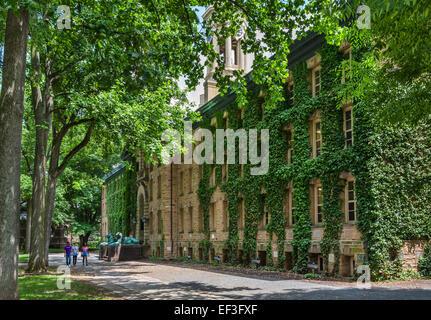 Nassau Hall ('Old Nassau'),Princeton University, Princeton, New Jersey, USA - Stock Photo
