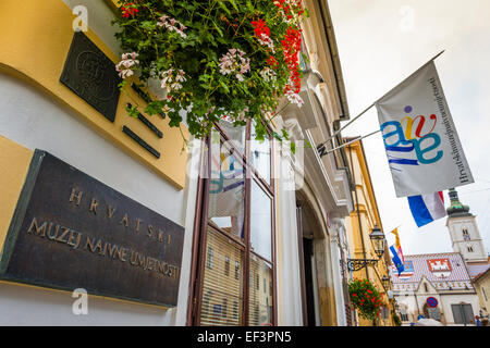 The Croatian Museum of Naive Art in old town Gradec, Zagreb, Croatia - Stock Photo