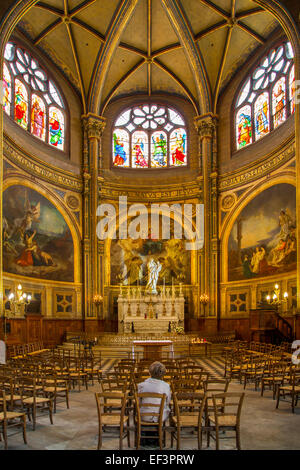 Chapel of the Virgin inside the imposing, Gothic  L'Eglise Saint Eustache, b. 1532-1632, in Les Hall, Paris, France - Stock Photo