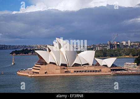 Heavy rain clouds over the Sydney Opera House, performing arts centre in Sydney, New South Wales, Australia - Stock Photo