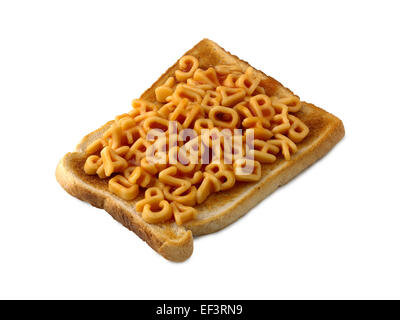 alphabet spaghetti on toast - Stock Photo
