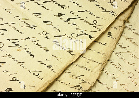 Ancient manuscript - Stock Photo