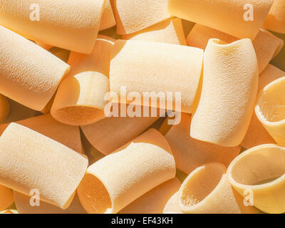 Italian paccheri pasta in the shape of large tubes from Campania and Calabria - Stock Photo