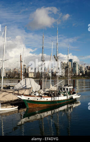 North Star of Herschel Island arctic tall ship docked in Heritage Harbour, Vancouver Maritime Museum, Vancouver, - Stock Photo