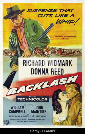 Backlash - 1956 - Movie Poster - Stock Photo