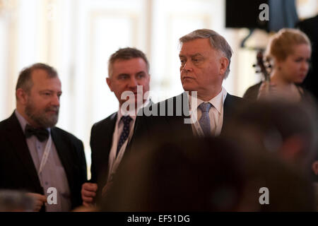 Director of Foreign Affairs Department of the Office of Czech President Hynek Kmonicek (left to right), Czech Presidential - Stock Photo