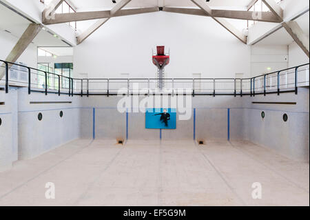 Venice, Italy. An empty swimming pool used as a venue for an art exhibition - Stock Photo