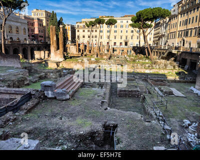 Largo di Torre Argentina in Rome, Italy - Stock Photo