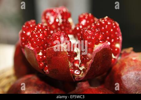 Pomegranate cut open - Stock Photo