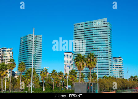 Diagonal Mar, Sant Marti district, Barcelona, Spain - Stock Photo
