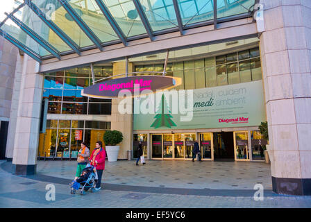 Centro Comercial Diagonal Mar, Sant Marti district, Barcelona, Spain - Stock Photo