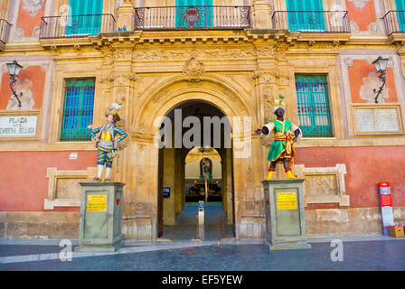 Palacio Episcopal, housing art gallery and exhibition spaces, Plaza del Cardenal Belluga square, old town, Murcia, - Stock Photo