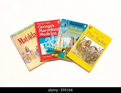 A collection of Roald Dahl books - Stock Photo