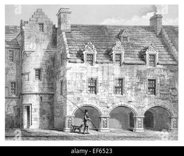 1852 Street in Elgin Eilginn  Ailgin  cathedral city Royal Burgh Moray - Stock Photo
