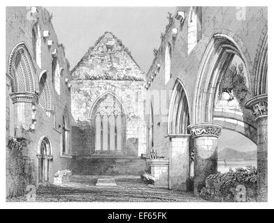 1852 Choir Iona Abbey  ecumenical church Chaluim Chille Inner Hebrides Ross Mull  Gaelic monasticism Saint Columba - Stock Photo