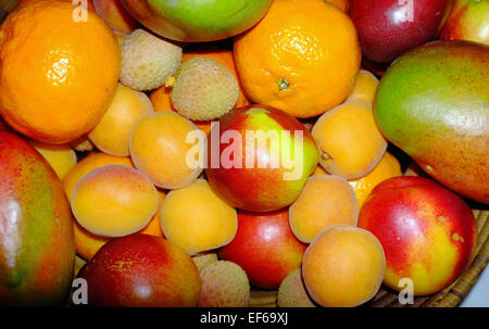 Lots of kinds of fruit viewed from above. - Stock Photo