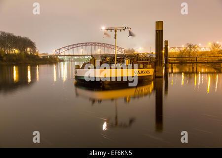 Duisburg-Ruhrort, Europe's largest inland port, river Rhine, - Stock Photo