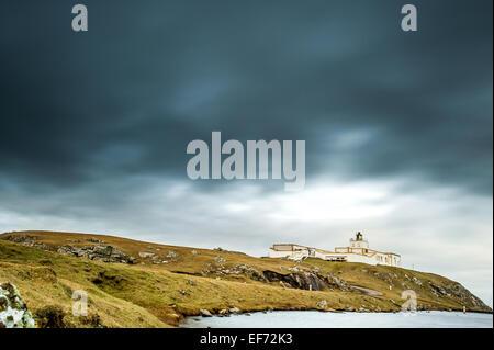 strathy point lighthouse caithness scotland - Stock Photo
