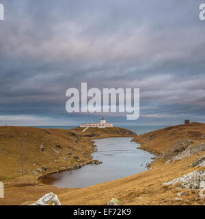 Strathy Point Lighthouse, The first all electric lighthouse to be built in Scotland - Stock Photo
