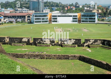 Galle cricket ground and Fort wall at Old Town of Galle,Sri Lanka.Sri Lanka - Stock Photo