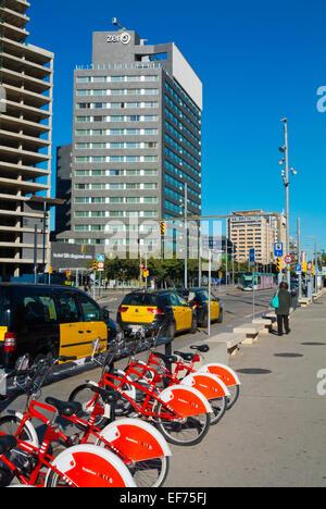 Carrer Narcis Roca street, Forum area, Diagonal Mar, Sant Marti district, Barcelona Spain - Stock Photo