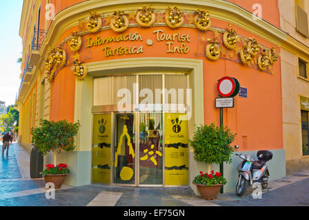 Tourist information office, Plaza del Cardenal Belluga square, old town, Murcia, Spain - Stock Photo
