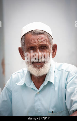 ELDERLY MUSLIM MAN IN GALLE - Stock Photo