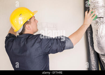 Engineer working at site - Stock Photo